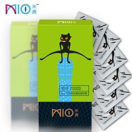 浮点颗粒-MIO米奥-米奥 大颗粒高潮狼牙避孕套 中号 8只装