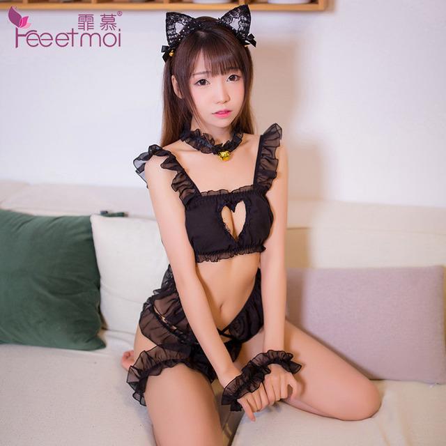 制服诱惑-霏慕-霏慕女仆装日式猫咪套装可爱性感聚拢女仆