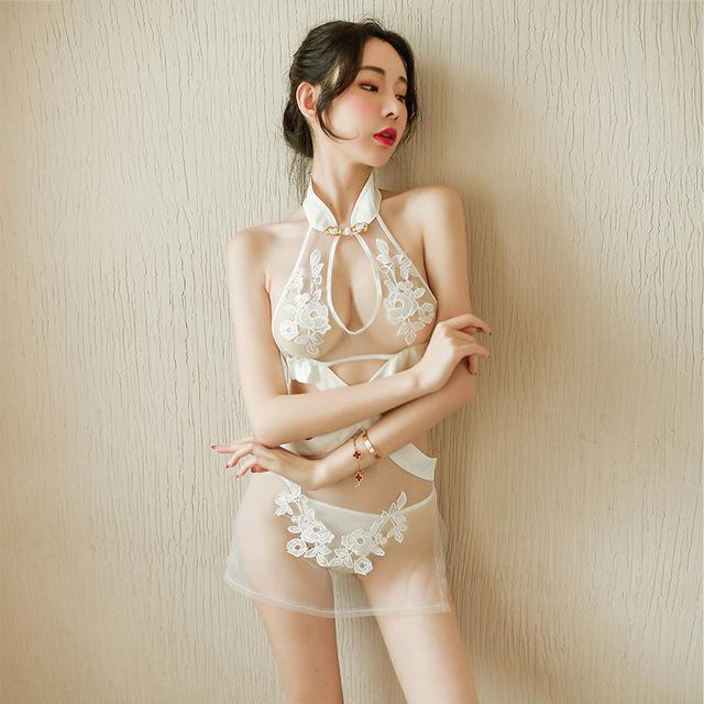 性感裙装-霏慕-新款蕾丝性感睡衣成人情趣内衣透视装