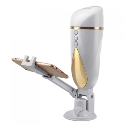 飞机杯-爆热空间-爆热空间姬娜飞机杯带手机支架震动吸盘免提飞机杯